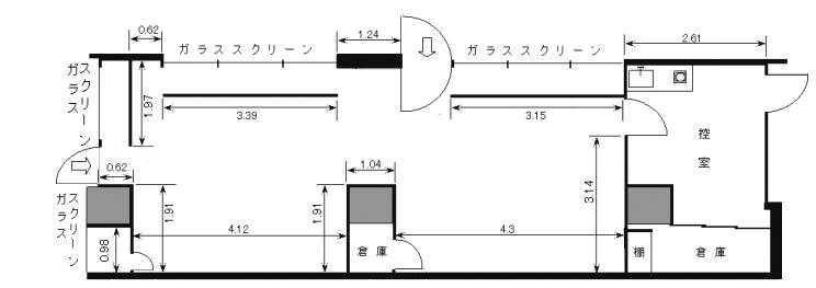 ギャラリー内平面図